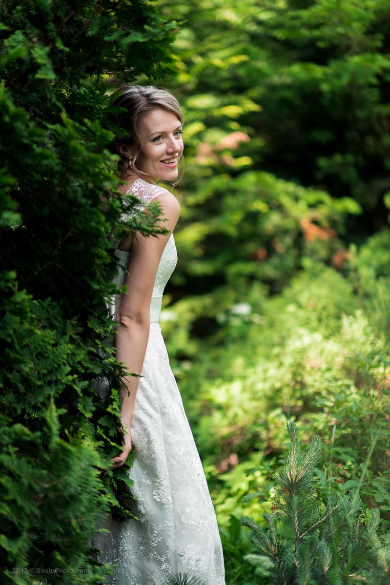 Невеста в ботаническом саду